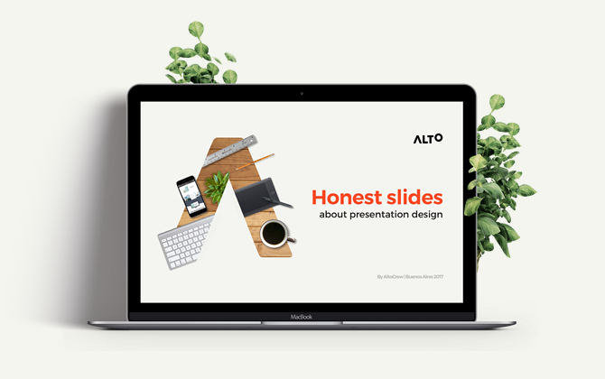 Honest slides about presentation design